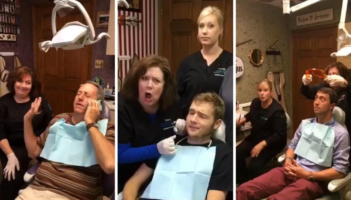Il dentista che cura i pazienti con canti e balli