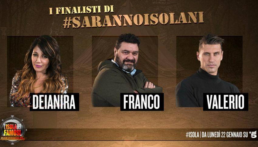 """""""Saranno Isolani"""": ecco i 3 finalisti che andranno sull'Isola"""