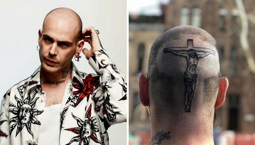 Gemitaiz si è tatuato Gesù in testa
