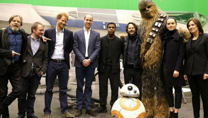 """Star Wars"", tagliata la scena con William e Harry"