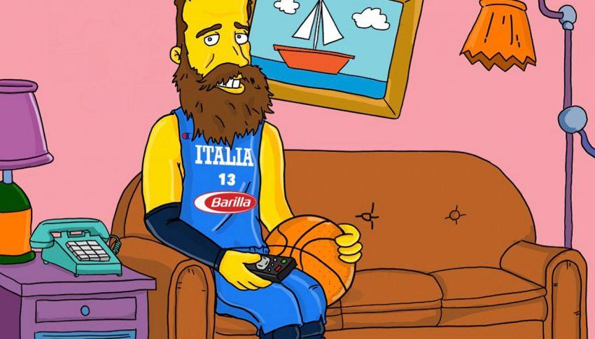 Il campione NBA Gigi Datome in versione Simpson trolla il web