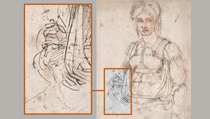 Scoperto un autoritratto di Michelangelo nascosto in un disegno