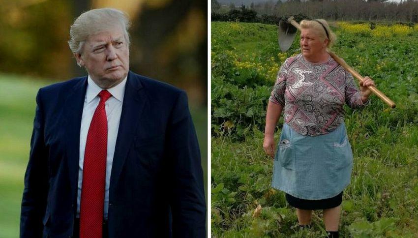 In Spagna c'è una contadina che somiglia molto a Donald Trump