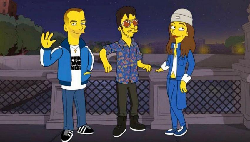 Avete mai visto Carl Brave, Michielin e Fibra diventare Simpson?
