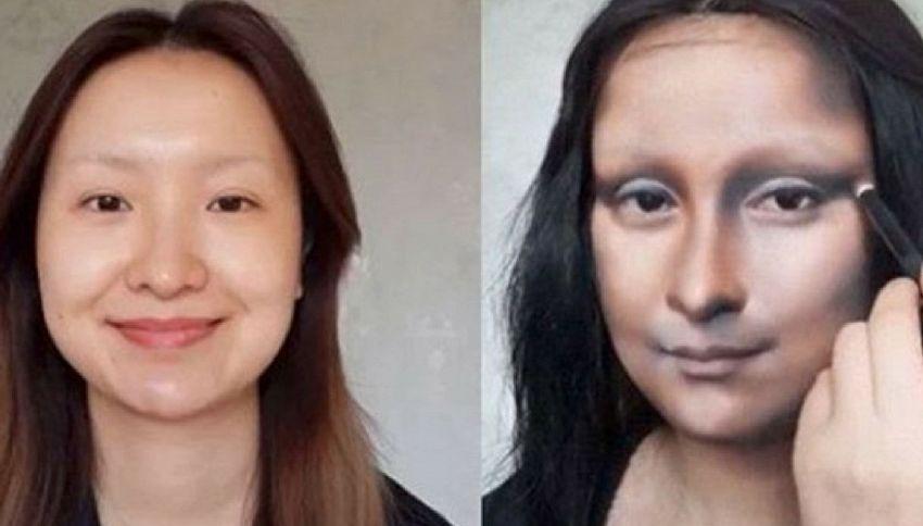 Una donna cinese si è trasformata nella Gioconda