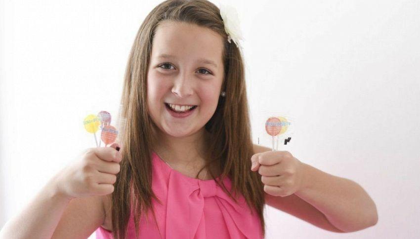 Alina, la 13enne diventata milionaria grazie ad un lecca lecca