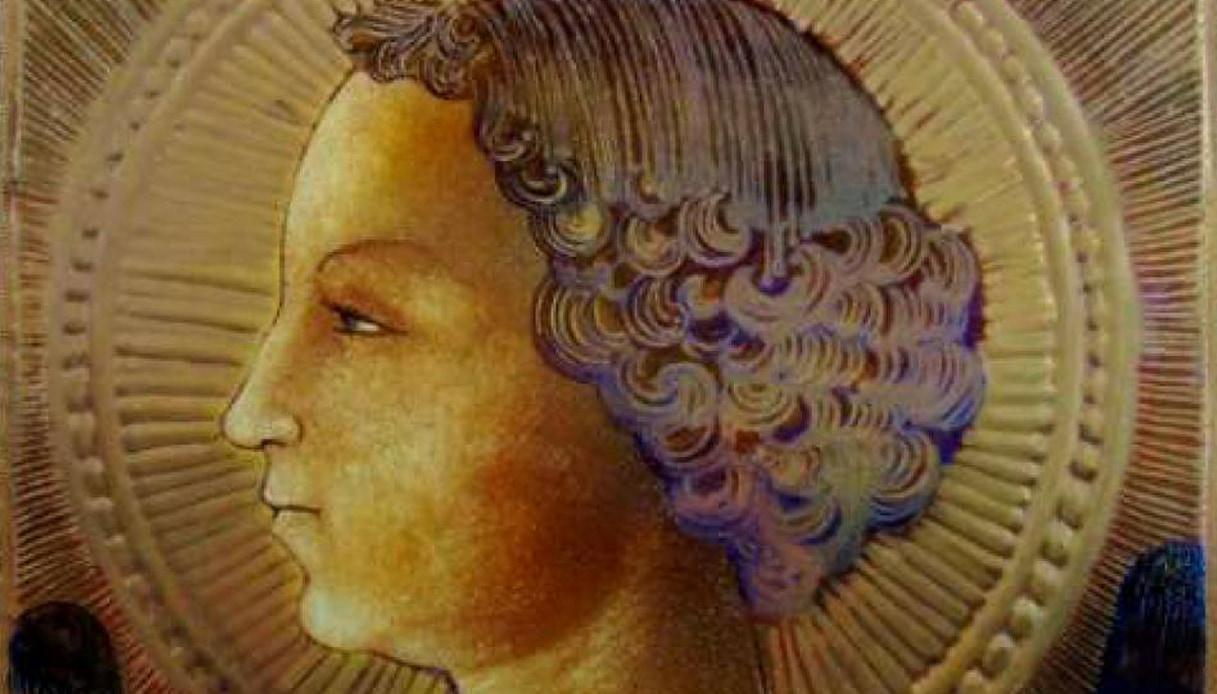Il primo dipinto di Leonardo è un ritratto su una piastrella