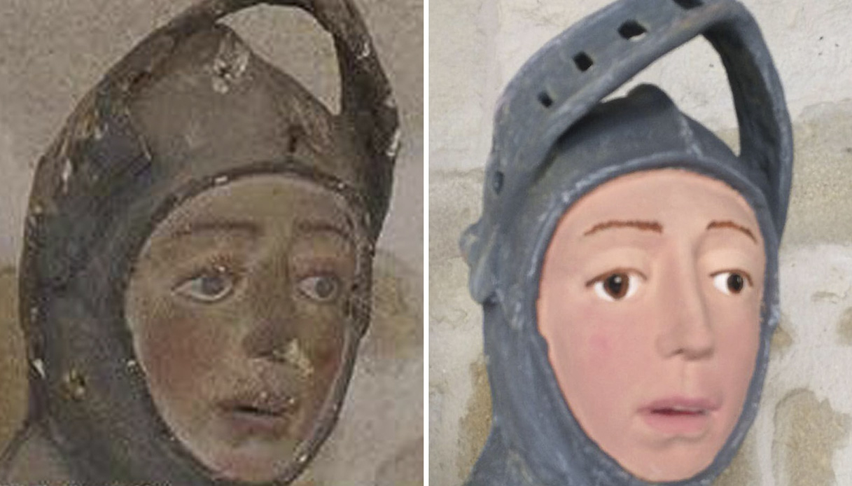 La statua che dopo il restauro è diventata simile a pippo