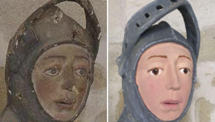 La statua che dopo il restauro è diventata simile a Pippo Franco