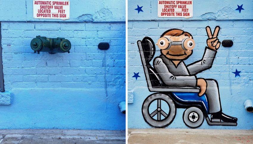Street art: ecco come si trasformano gli angoli più insoliti
