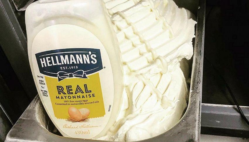 Il gelato al gusto maionese: imperdibile