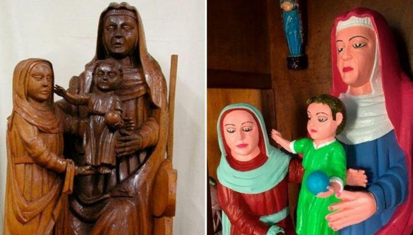 Il restauro trash della statuetta del XV secolo