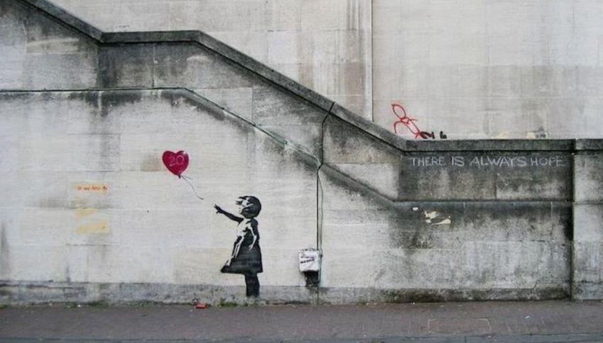 E se l'opera distrutta di Banksy fosse stata un fake?