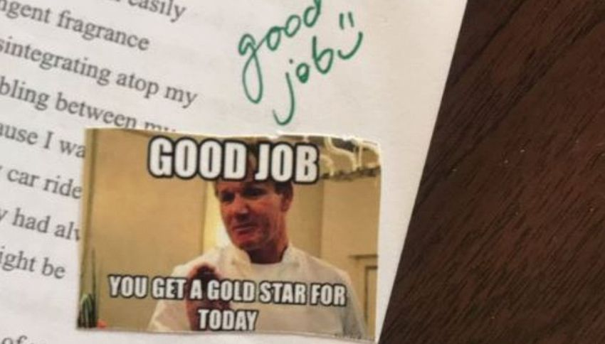 Un'insegnante ha dato i voti agli alunni usando i meme