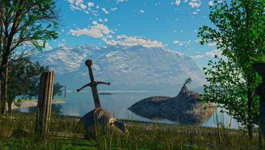 Ogni anno una bambina scopre una spada nel lago