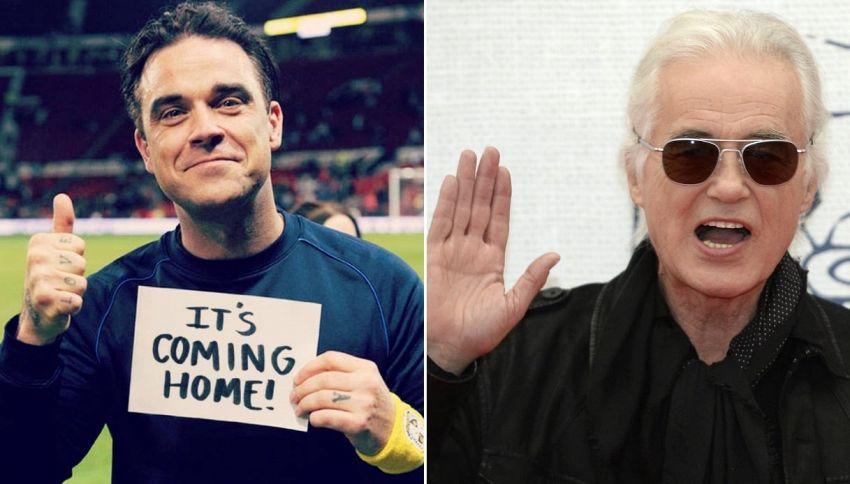 Pare che Robbie Williams e Jimmy Page si facciano i dispetti