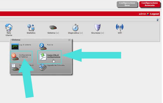 Interfaccia utente router