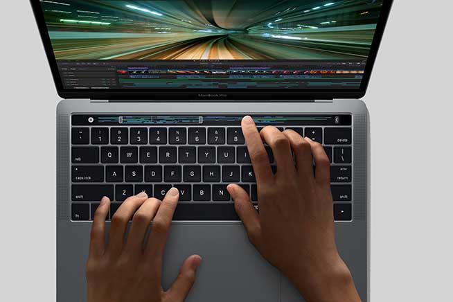 Touch Bar utilizzata con FinalCut Pro