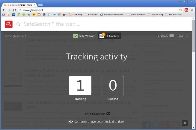 Avira browser system