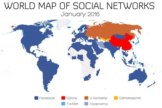 Diffusione social nel mondo