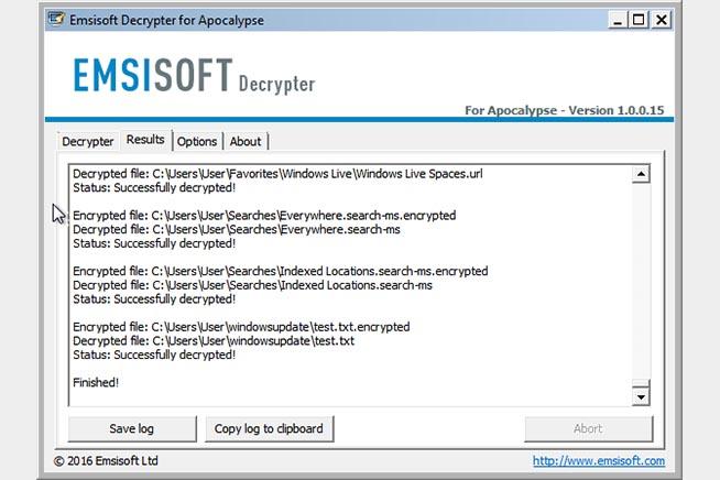 Emsisoft Decrypter