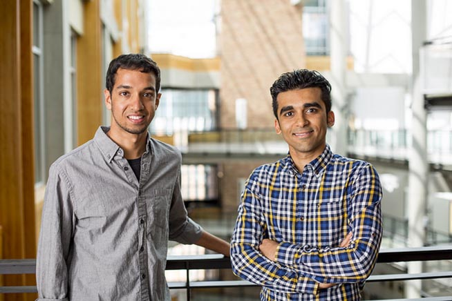 Vikram Iyer (a sinistra) e Mehrdad Hessar (a destra)