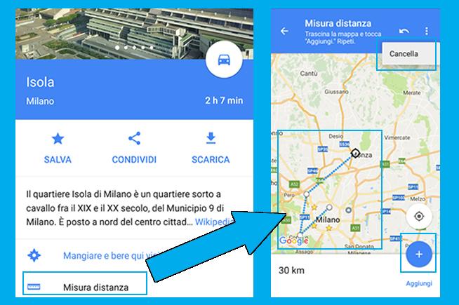 Misurare distanze Google Maps