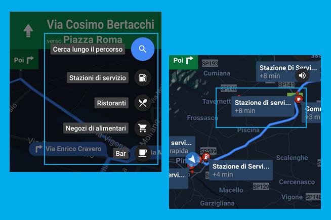 Benzinai e bancomat Google Maps
