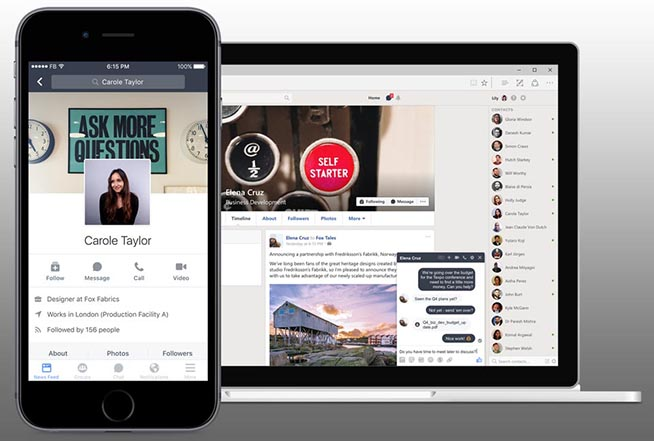 Profilo aziendale su Facebook Workplace