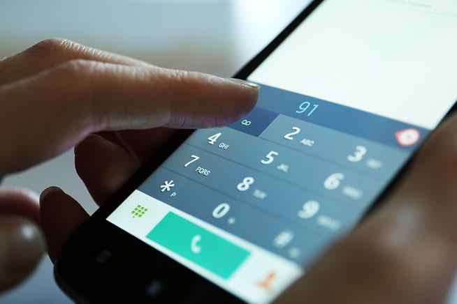 Smartphone in chiamata