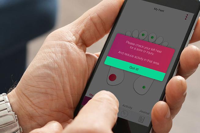 L'applicazione dove controllare i dati raccolti dai calzoni smart