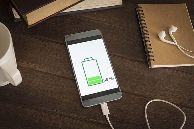 Batteria smartphone quasi scarica