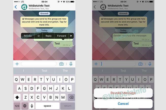 Come cancellare i messaggi inviati per sbaglio su WhatsApp