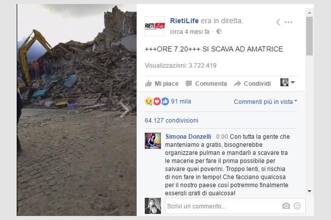 La tragedia di Amatrice, il video più visto in Italia nel 2016