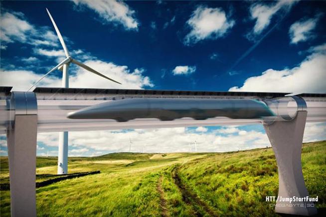 Premi sull'immagine per scoprire come funziona il progetto di Hyperloop per collegare l'Europa in 10 minuti