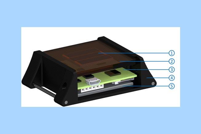 Rendering del dispositivo di ricarica basato sull'energia solare