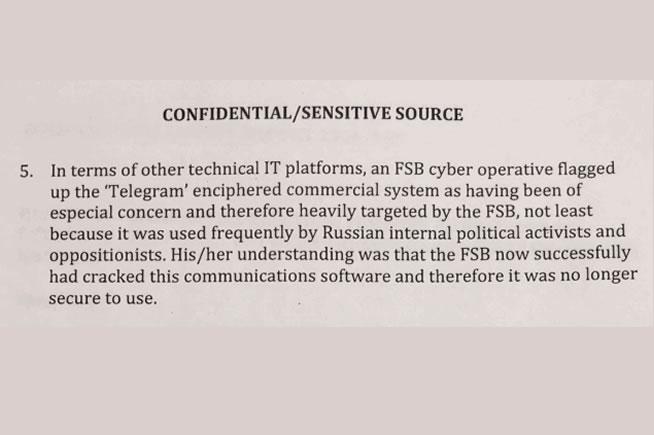 Il documento che proverebbe l'hackeraggio di Telegram da parte di hacker russi