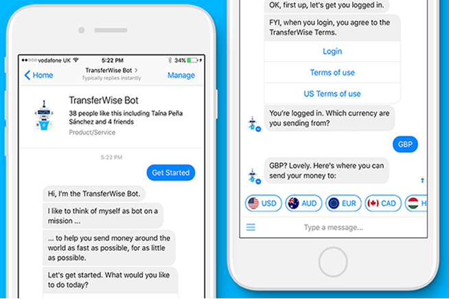 TransferWise Bot in azione