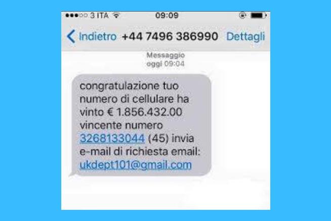 SMS di truffa
