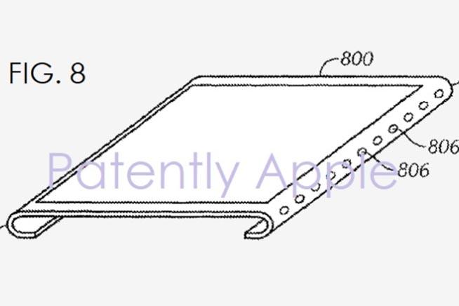 Lo schermo curvo brevettato da Apple