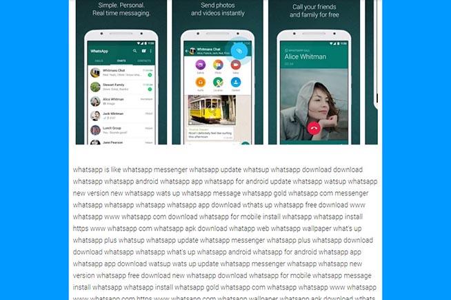 La falsa applicazione Whatsup
