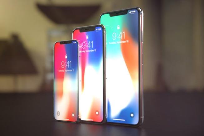 I tre modelli di iPhone X 2018