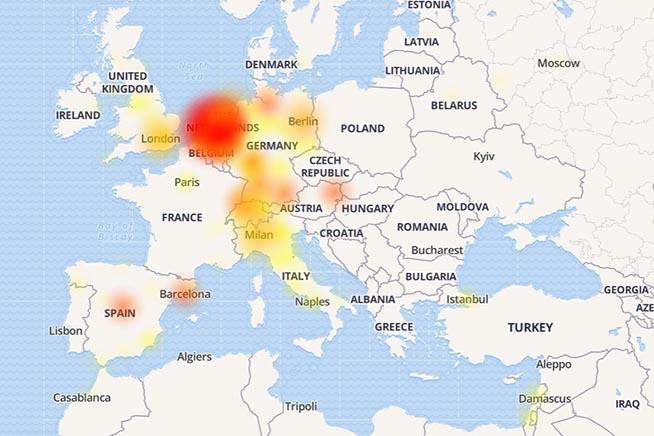 La mappa con le segnalazioni degli utenti