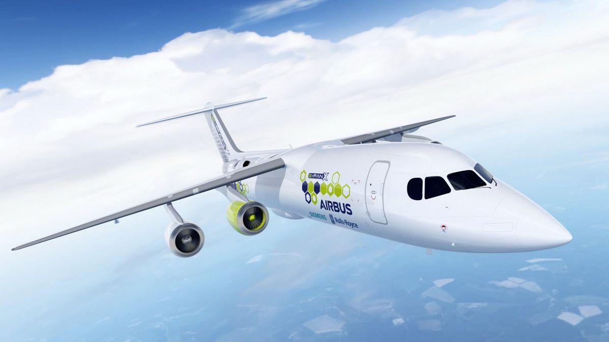 Aereo ibrido di Airbus, Rolls, Siemens