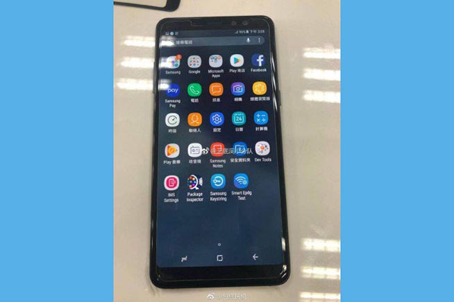Le prime immagini del Galaxy A8 (2018)