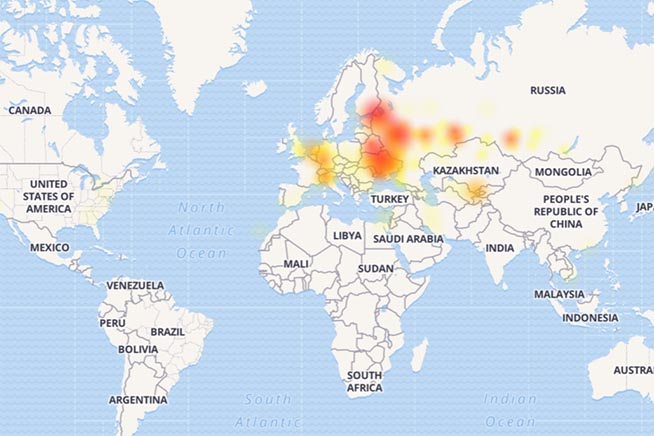 Mappa Telegram down