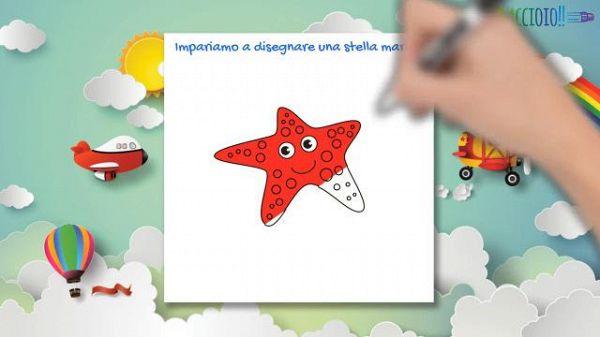 Impariamo a disegnare una stella marina