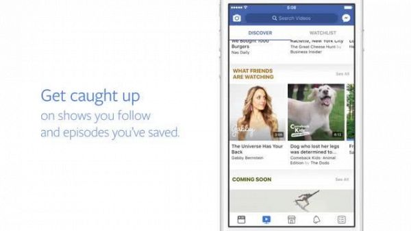 Facebook lancia Watch: la tv va in onda sul social network