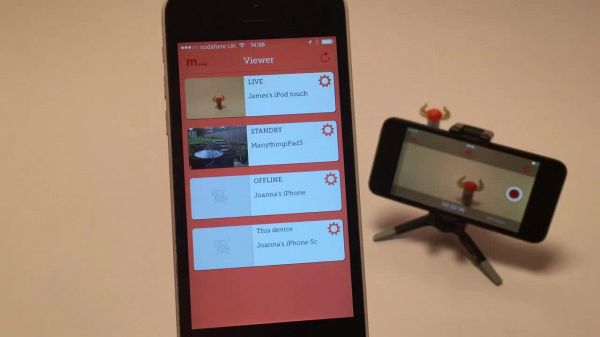 Viewing your Manything camera from your iPhone or iPad