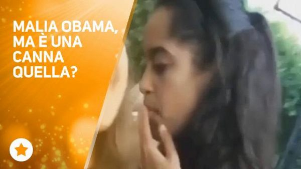 Malia Obama si fa una canna... E allora?